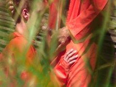 Outdoor, voyeristic, daddy, prison, jungle scene