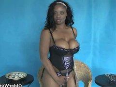 Black mature mom with massive mammaries