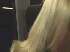 Slutty German Teen Has Fun On The Subway !