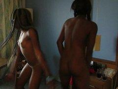 Naked dancing ebony teens
