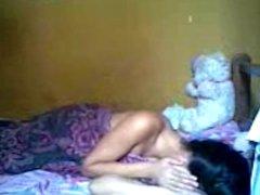 indonesian Romantic Teen Couple Make Love in Bedroom