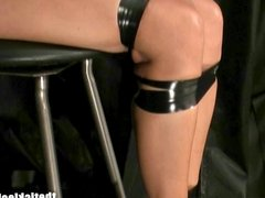 Stacy Burke Chair Tied Nipple Tease
