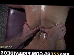 Jessie Volt deepthroats her masseur and begs for anal