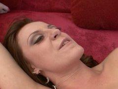 Pornstar Denise K links her anal creampie off her hand