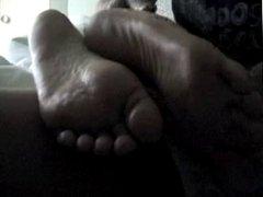 ex wifey lazy footrub
