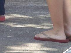Perfect teen feet