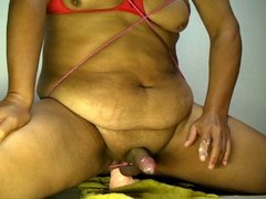 Huge dildo anal fuck & full erected cock cumming Sep-08-2013