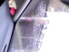 wank in the car