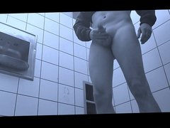 playing nude in public toilet