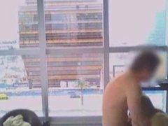 Couple Fucking In Public Hotel Window