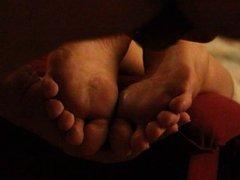 Cum on girlfriend feet soles