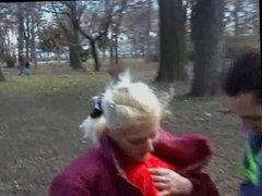 Young amatuer Couple fucks in public