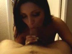 Sexy Latina Blowjob POV Swallow