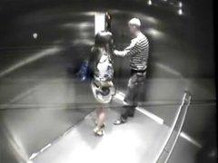 Catfight-Club sex in elevator