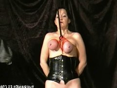 Extreme mature slave girls hooded breast bondage and vicious