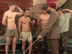 5 military hunks in group orgy - part 1