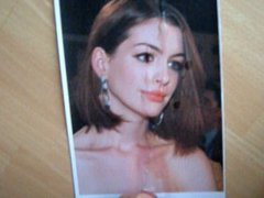 Anne Hathaway Cum Tribute (Facial)
