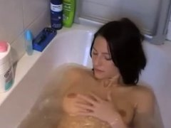 Gorgeous German amateur brunette fucked at home