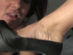 Foot Fetish under the desk