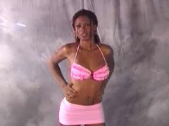 Sexy Ebony Shemale Gets Drilled By White Cock