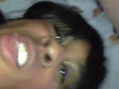 White Dad Bareback Black Tranny Facial swallow