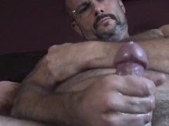 Hairy Daddy's Jerking(with sweet nipple)