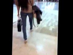 cum inside beautifull shopping girl heels