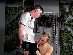BDSM slave boy tied up punished fucked milked schwule jungs