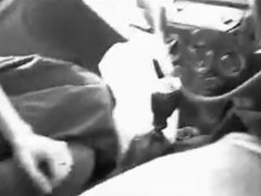 POV BLOWJOB: SILENT AND MASKED IN THE CAR