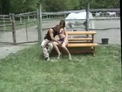 Group sex outdoor in park