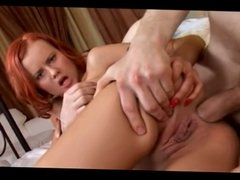 Redhead With Meaty Pussy Does Anal