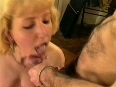 FRENCH MATURE TAKES 2 CUMSHOTS AND FACIAL IN HER FACE