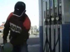 Public slut at Gas-station