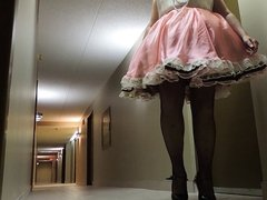 Sissy Ray in Pink Sissy Dress