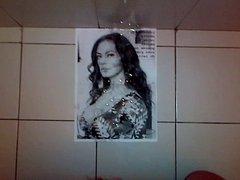 Cumshot tribute on Maria Grazia Cucinotta, italian actress