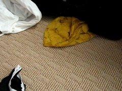 panty raid - step daughter's bathroom and dirty hamper