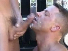 slow motion big daddy cock cum