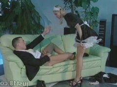 Horny Blonde Maid Fucked Hard
