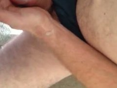 Cumming on a guy's cock