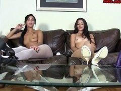 Alexa and Esmi Chastity Check in Gone Bad