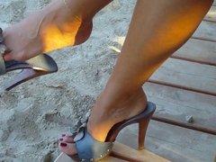 Beautiful feet in public