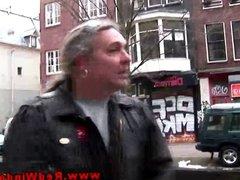 Petite blonde Dutch whore blows client