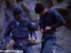 Retro Gay Military Mutual Masturbation
