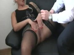 Fisting my german female bitch boss till she squirts