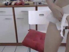 WET ORGASM in kitchen EroPro