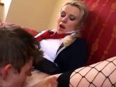MRY - fucking hot blonde schoolgirl takes on huge cock