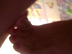 fucking pregnant wife sexy pink toes cumshot