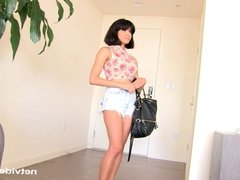 Shy Latina shows her nasty side at Calendar Audition
