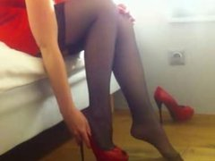 Black Stockings and Red High Heels