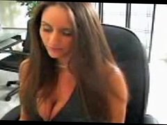Woman smoking BJ on webcam